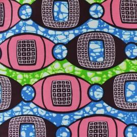 Tissu Wax Indlamu - rose x 10cm