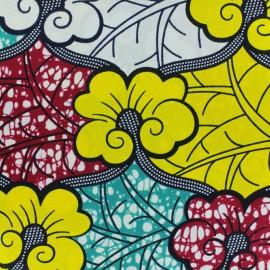 Tissu Wax Agbaei - vert x 10cm