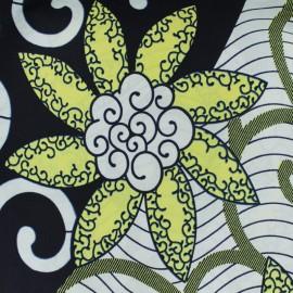 Tissu Wax Ewegh - blanc x 10cm