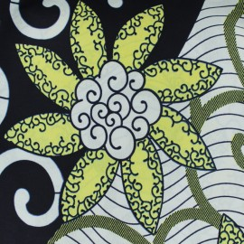 Wax print fabric - Ewegh white x 10cm