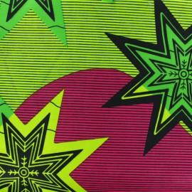 Tissu Wax Alanta - vert x 10cm