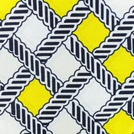 Tissu Wax Makossa - blanc x 10cm