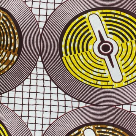 Wax print fabric - Eskista yellow x 10cm