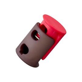 23 mm Polyester Cord Lock Stopper - Fuchsia Duo