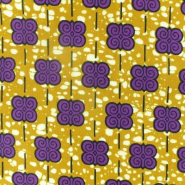 Tissu Wax Hlokoloza - violet x 10cm