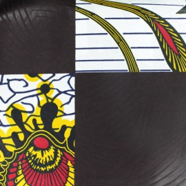 ♥ Coupon 60 cm X 110 cm ♥ Wax print fabric - Isikuti brown