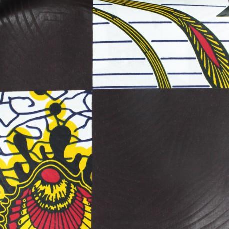 Wax print fabric - Isikuti brown x 10cm