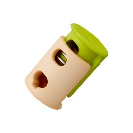23 mm Polyester Cord Lock Stopper - Green Duo