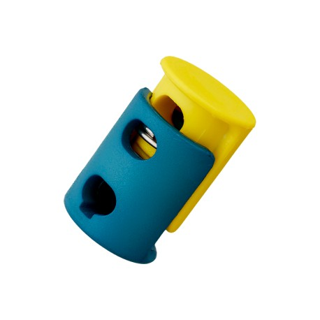 23 mm Polyester Cord Lock Stopper - Yellow Duo