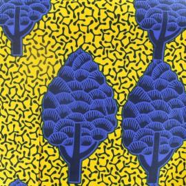 Tissu Wax Bamaaya - bleu x 10cm