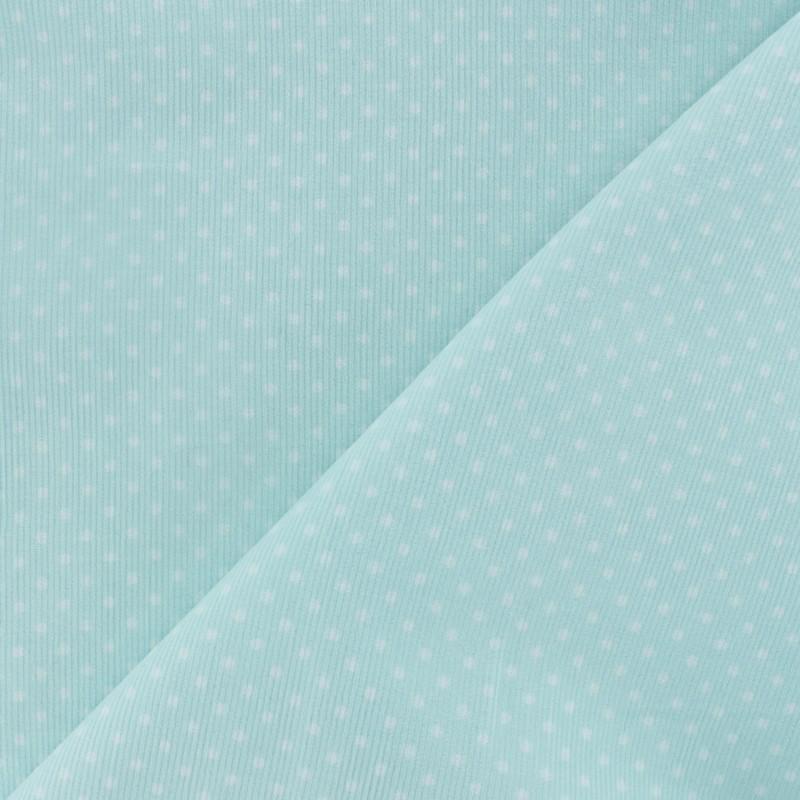 Tissus Pas Cher 100 Coton Tissu Velours Milleraies à Pois Blanc