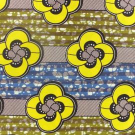 Tissu Wax Bobaraba - jaune x 10cm