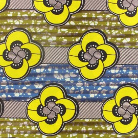 Wax print fabric - Bobaraba Yellow x 10cm
