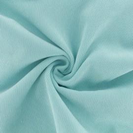 Tissu velours côtelé fluide - bleu givré x 10cm