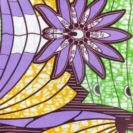 Tissu Wax Fumefume - violet x 10cm