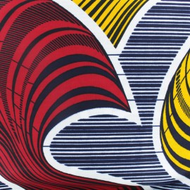 Tissu Wax Mapouka - rouge x 10cm