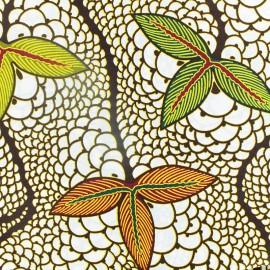 Tissu Wax Moribayasa - blanc x 10cm