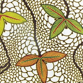 Wax print fabric - Moribayasa white x 10cm