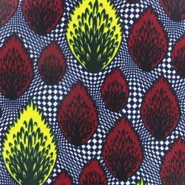 Tissu Wax Kpanlogo - bordeaux x 10cm