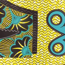 Wax print fabric - Atilogwu yellow x 10cm