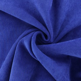 Ribbed velvet fabric - royal blue Billie x 10cm
