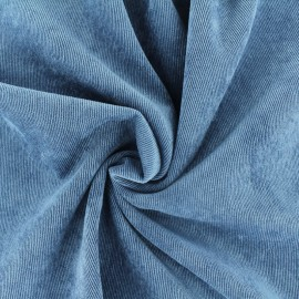 Ribbed velvet fabric - bluish grey Billie x 10cm