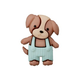 20 mm Polyester Button - Overalls Dog