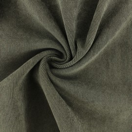 Tissu velours côtelé fluide Billie - Rouge x 10cm