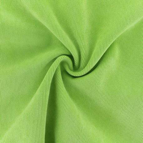 Ribbed velvet fabric - Khaki green Billie x 10cm