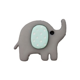 20 mm Baby Animal Polyester Button - Elephant