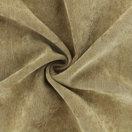 Ribbed velvet fabric - camel Billie x 10cm