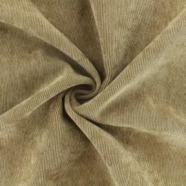 Tissu velours côtelé fluide Billie - camel x 10cm