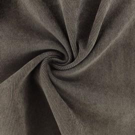 Ribbed velvet fabric - brown Billie x 10cm