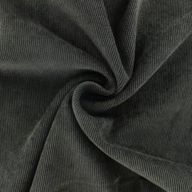 Ribbed velvet fabric - Dark Chocolate brown Billie x 10cm