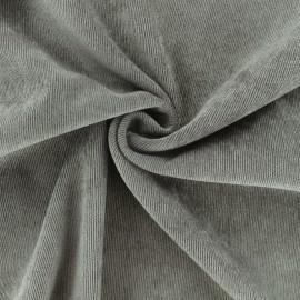 Tissu velours côtelé fluide Billie - Chocolat x 10cm