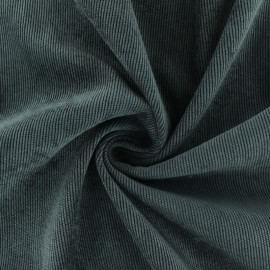 Ribbed velvet fabric - taupe grey Billie x 10cm