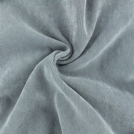 Ribbed velvet fabric - light grey Billie x 10cm