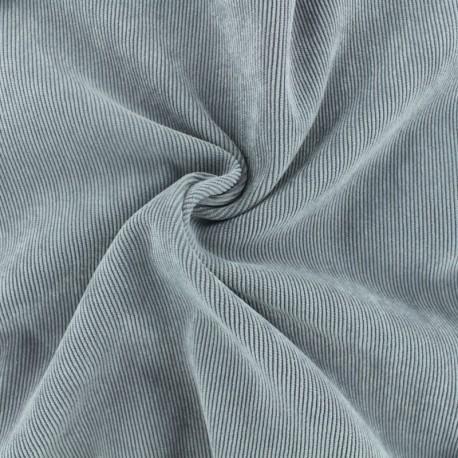 Ribbed velvet fabric - light grey Billie x 10cm