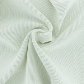 Ribbed velvet fabric - off-white Billie x 10cm