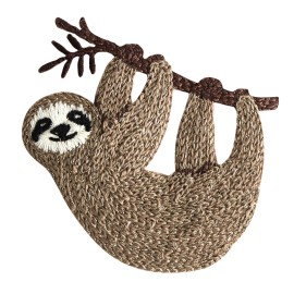 Woolen Aspect Iron-On Patch - Brown Sloth