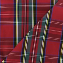 Tissu déperlant souple Margaret - rouge x 10cm