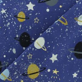 Tissu Jersey Space planet - bleu marine x 30cm