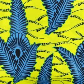 Tissu Wax Etighi - jaune x 10cm