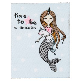 """Time to be a unicorn"" Iron-On Patch"