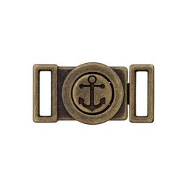 Mini Boucle Métal Ancre 10 mm- Bronze