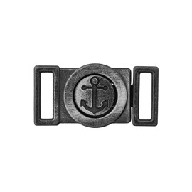10 mm Anchor Metal Buckle - Brushed Black