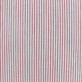 Striped Seersucker fabric - red x 10cm