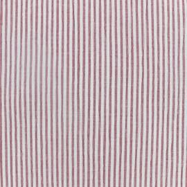 Tissu Seersucker rayé - rouge x 10cm