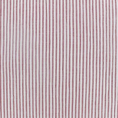 Striped Seersucker fabric - red x 10cm