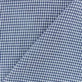 Tissu Seersucker petit vichy élasthanne - bleu marine x 10cm
